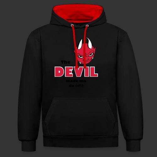 Devil made me do it! - Kontrast-Hoodie
