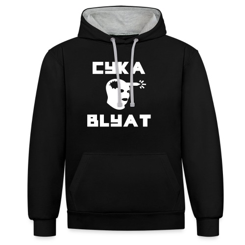 CYKA_BLYAT-png - Contrast Colour Hoodie