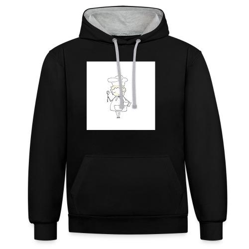 Maglietta 1 - Felpa con cappuccio bicromatica