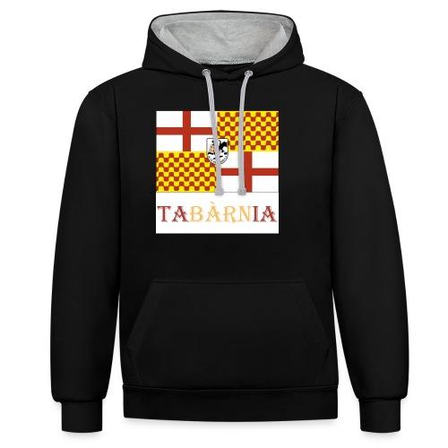 Bandera Tabarnia con escudo y nombre - Sudadera con capucha en contraste