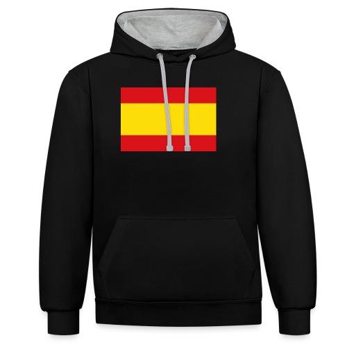 vlag van spanje - Contrast hoodie