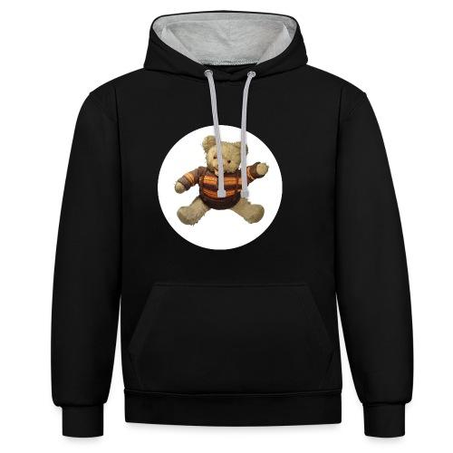 Teddybär - orange braun - Retro Vintage - Bär - Kontrast-Hoodie