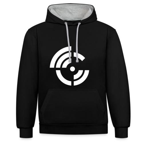 electroradio.fm logo - Contrast Colour Hoodie