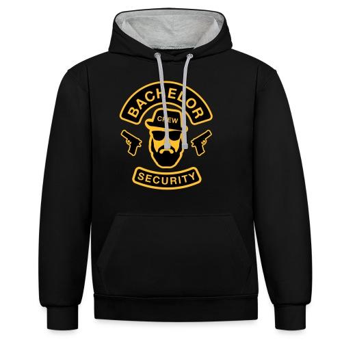 Bachelor Security - JGA T-Shirt - Bräutigam Shirt - Kontrast-Hoodie