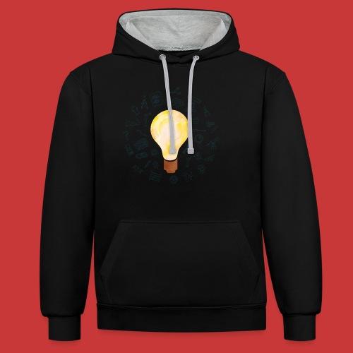 5 IDEEN Glühbirne 2018 - Kontrast-Hoodie