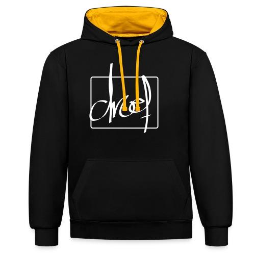 Droef.Gent wit - Contrast hoodie