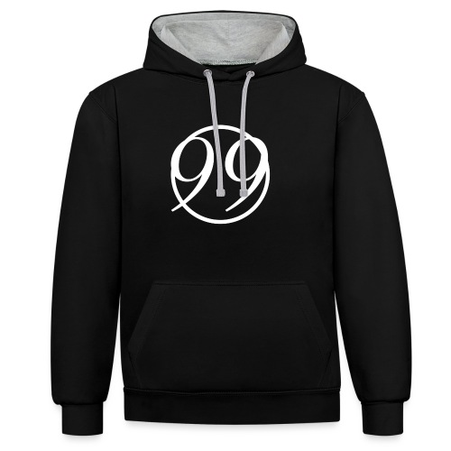 99_white - Contrast Colour Hoodie