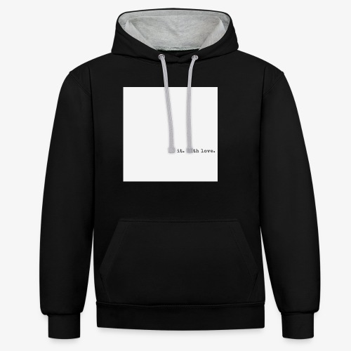 do it with love - Contrast Colour Hoodie