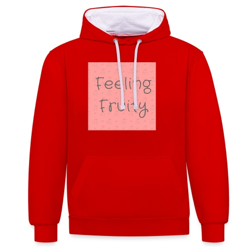feeling fruity slogan top - Contrast Colour Hoodie