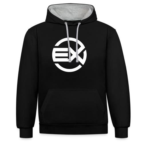 eX - erste Kollektion - Kontrast-Hoodie