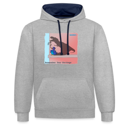 Woofra's Design Heritage - Contrast Colour Hoodie