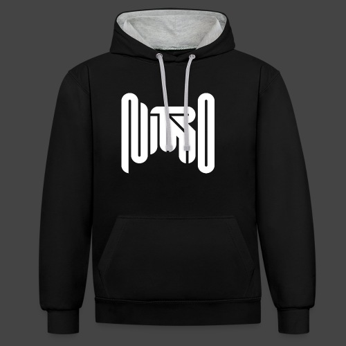Mr Nitro Logo 2021 - White - Contrast Colour Hoodie