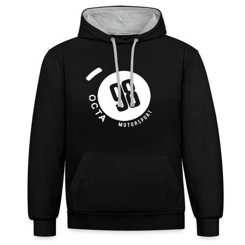 Octa98 simple - Kontrast-Hoodie