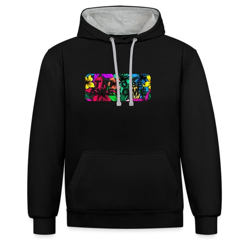 Tri to be Awesome Dschungel Block - Kontrast-Hoodie