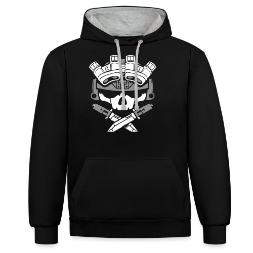 Lights out multi no png - Contrast Colour Hoodie