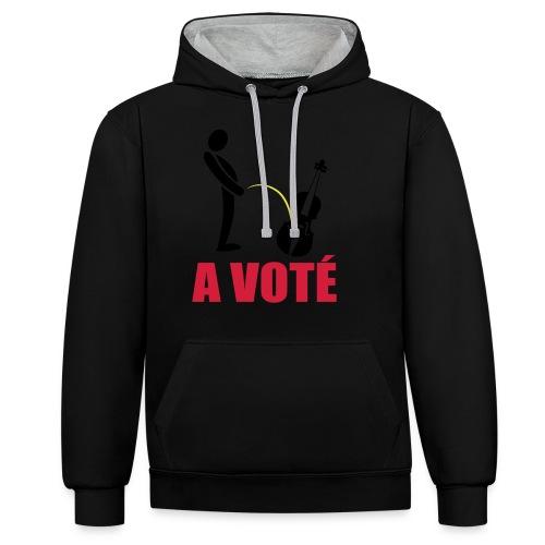 A voté - Sweat-shirt contraste