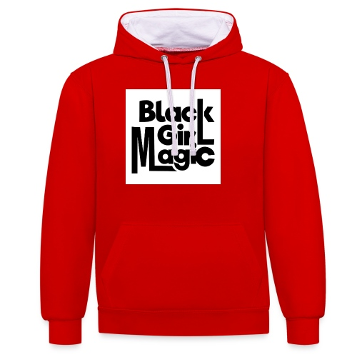 Black Girl Magic 2 Black Text - Contrast Colour Hoodie