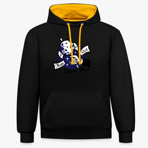 Moon on a Stick - Team Star - Contrast Colour Hoodie