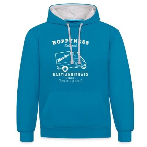 Design_Tshirt_BirrAPE_1_W - Felpa con cappuccio bicromatica