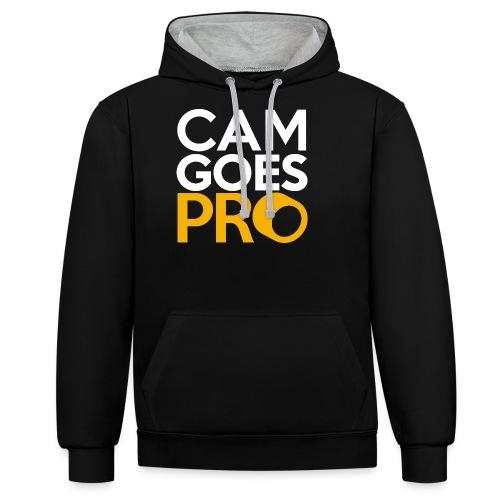 CamGoesPro Gold Shirt - Kontrast-Hoodie