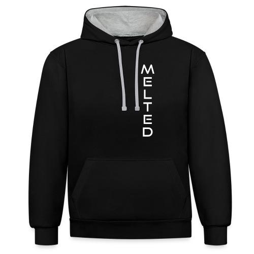 MELTED - Vertical 2.0 - Sudadera con capucha en contraste