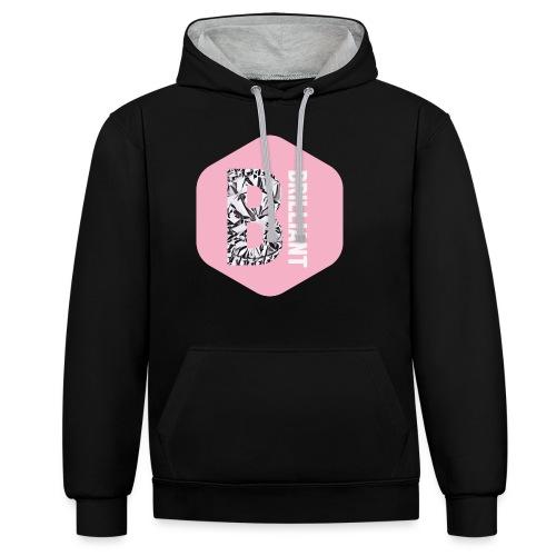 B brilliant pink - Contrast hoodie