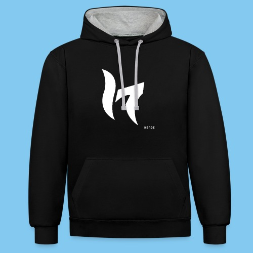 White & Text - Contrast Colour Hoodie