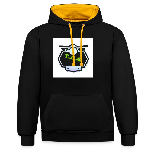 Cool gamer logo - Contrast Colour Hoodie