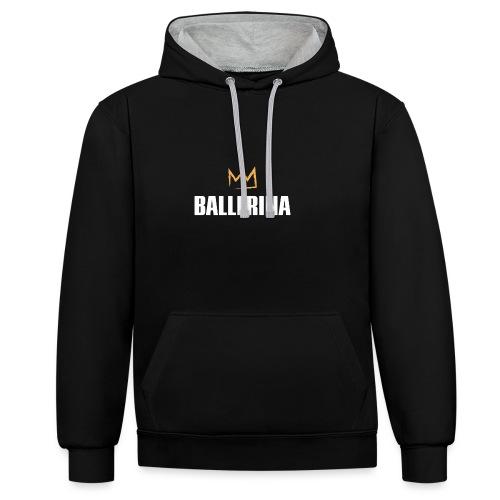 Ballerina - Kontrast-Hoodie