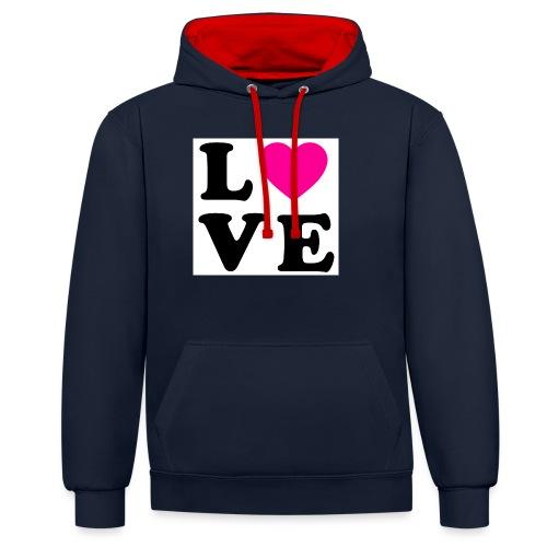 Love t-shirt - Sweat-shirt contraste