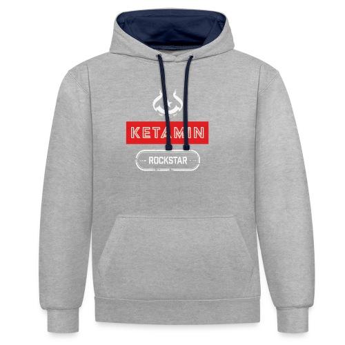 KETAMIN Rock Star - Weiß/Rot - Modern - Contrast Colour Hoodie