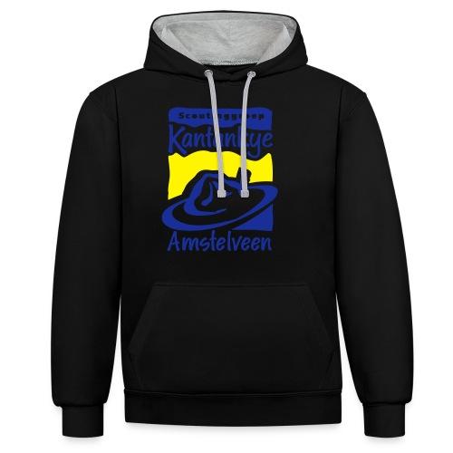 logo simpel 2 - Contrast hoodie