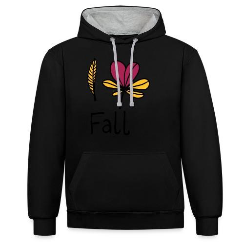 Fall in love - Kontrast-Hoodie