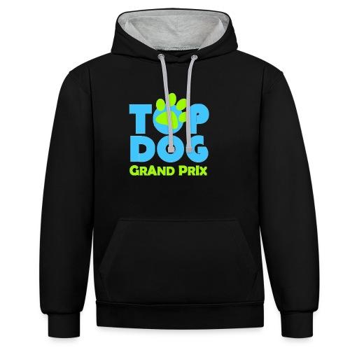 logo topdog PNG - Felpa con cappuccio bicromatica