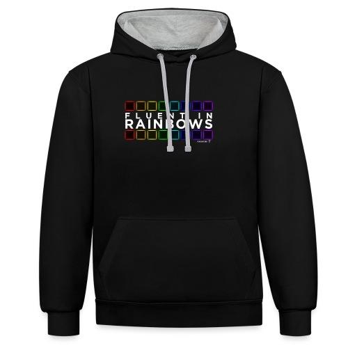 Fluent In Rainbows // Kaskobi - Contrast Colour Hoodie