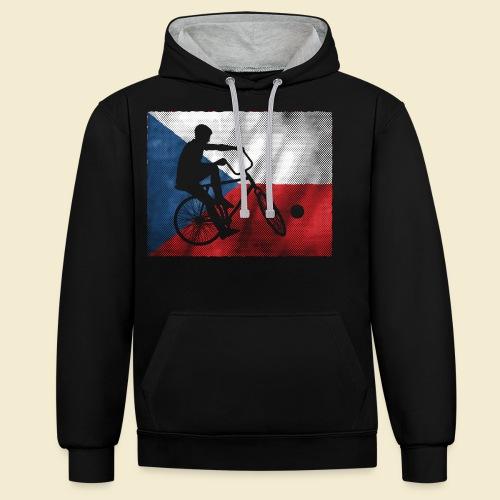 Radball | Flagge Tschechien - Kontrast-Hoodie