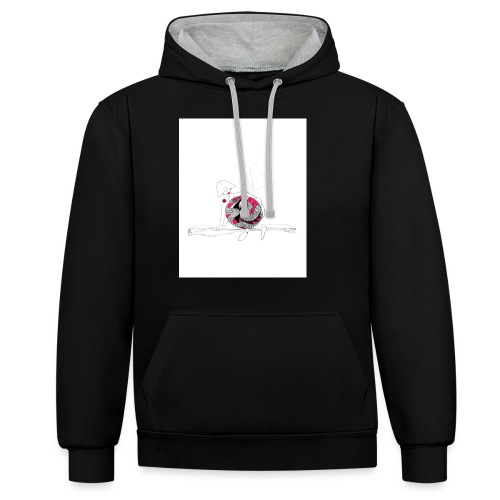 red lady - Contrast Colour Hoodie