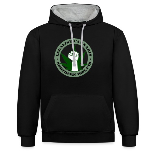 Legalise Cannabis - Northern Ireland - Contrast Colour Hoodie