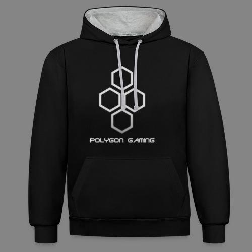 PolygonGamingLogo - Kontrast-Hoodie