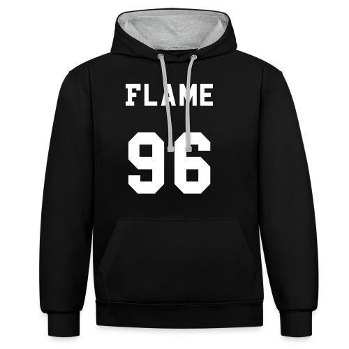 maglietta_flame_96 - Felpa con cappuccio bicromatica