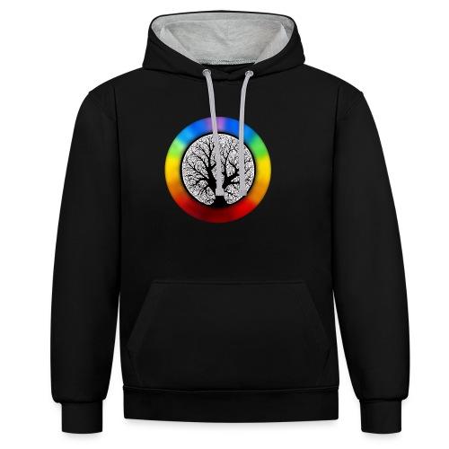 tree of life png - Contrast hoodie