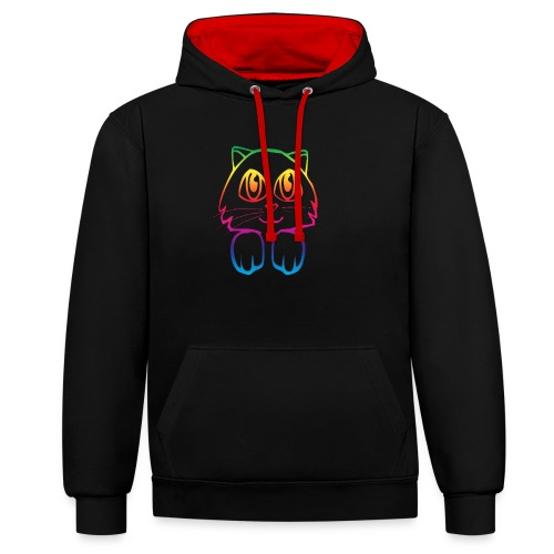rainbow_pussy - Contrast Colour Hoodie