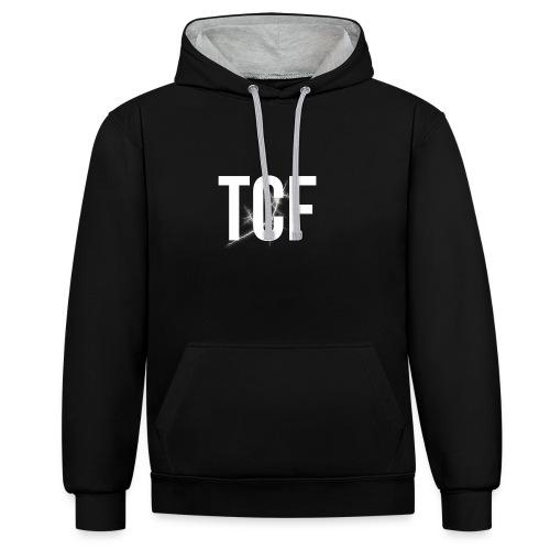 TCF Cappello - Felpa con cappuccio bicromatica