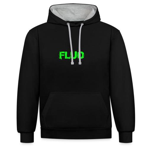FLUO_trasparente - Felpa con cappuccio bicromatica