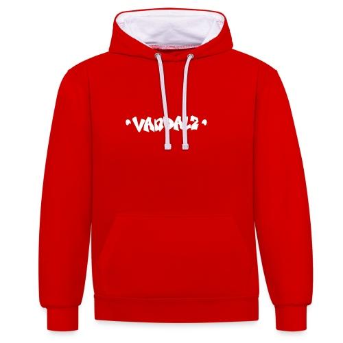 Vandalz White - Felpa con cappuccio bicromatica