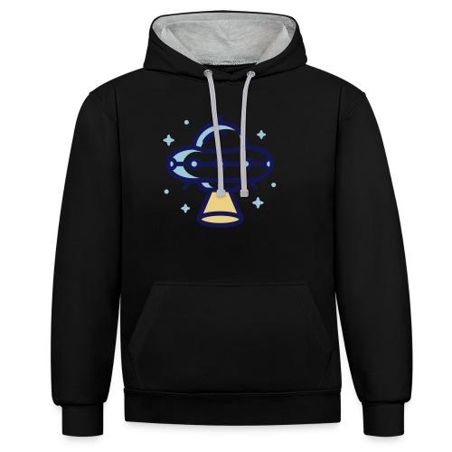 Space Spaceship - Contrast hoodie