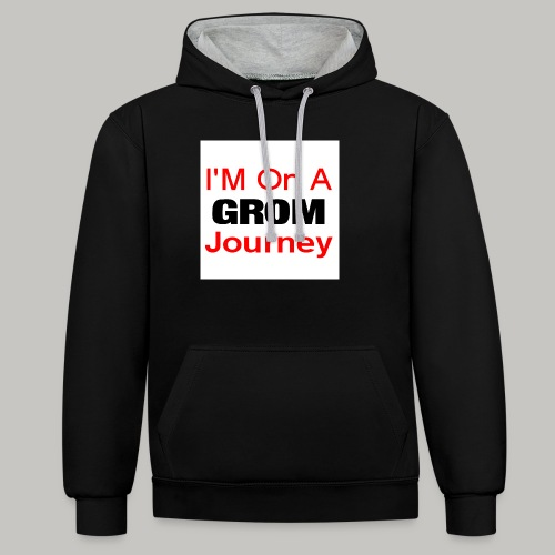 i am on a grom journey - Contrast Colour Hoodie