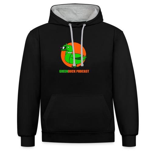 Greenduck Podcast Logo - Kontrast-hættetrøje