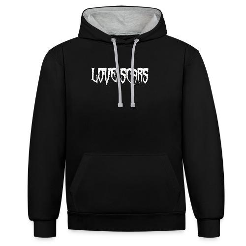 Love scars - Sudadera con capucha en contraste