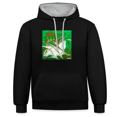 TIAN GREEN Mosaik CG002 - quaKI - Kontrast-Hoodie